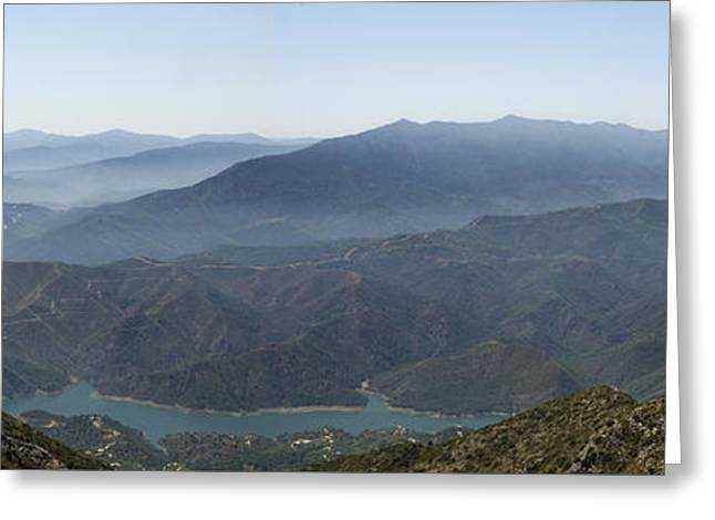 Mountains Of Spain Greeting Card by Perry Van Munster