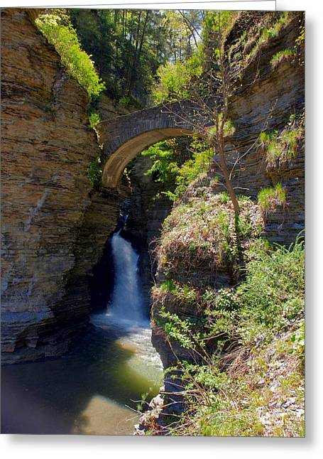 Mouth Of The Glen Watkins Glen State Prk Greeting Card by Joshua House