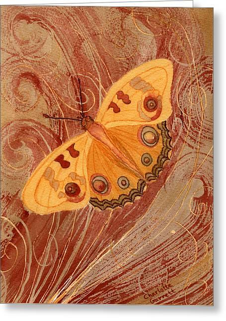 Movement Butterfly Greeting Card by Charlotte Garrett