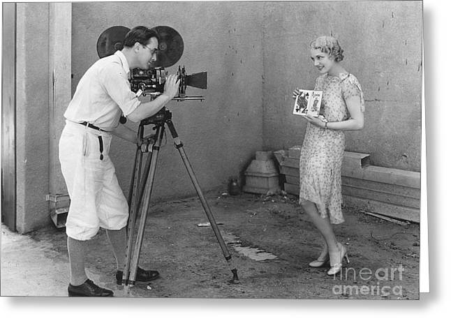 Movie Camera, 1920s Greeting Card by Granger