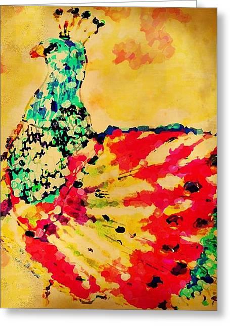 Mprints - Pretty  Peacock Greeting Card
