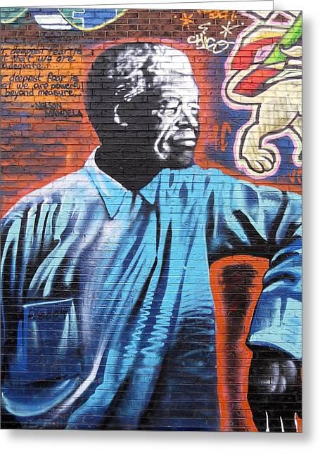Mr. Nelson Mandela Greeting Card by Juergen Weiss