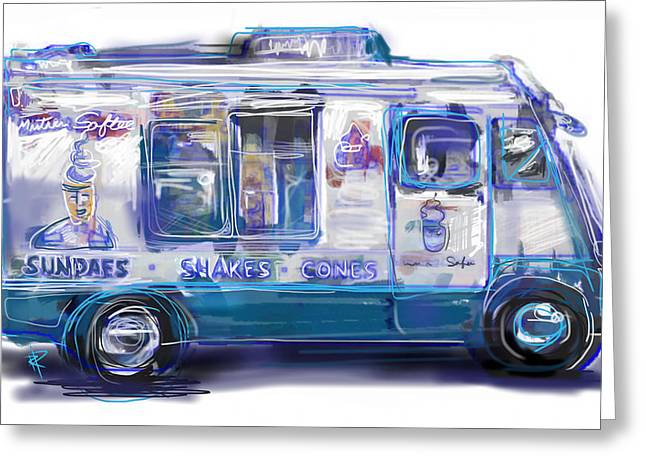 Mr. Softee Greeting Card by Russell Pierce