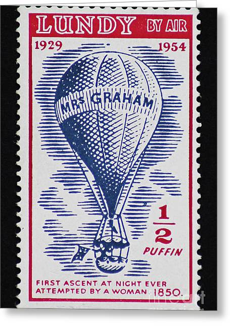 Greeting Card featuring the photograph Mrs Graham The Balloonist by Andy Prendy