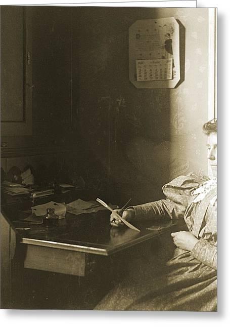 Mrs W - April 1885 Greeting Card by Jan W Faul