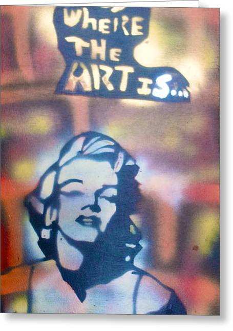 Ms.monroe Greeting Card by Tony B Conscious