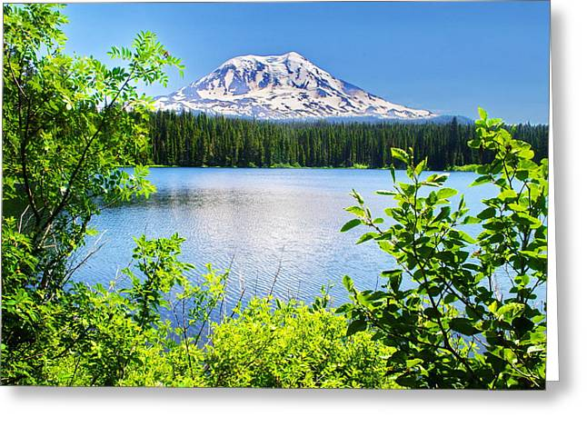 Mt Adams And Takhlakh Lake Greeting Card