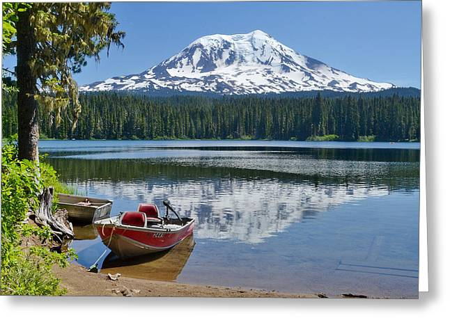 Mt Adams At The Lake Greeting Card