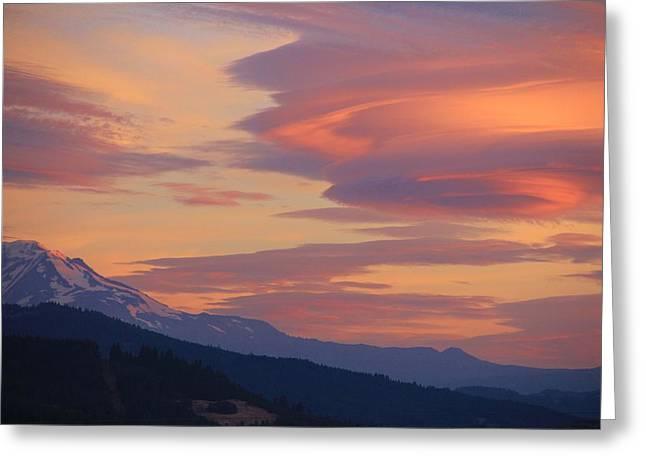 Mt Adams Morning Greeting Card by Dan Madden