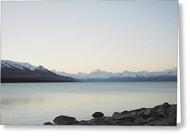 Mt Cook From Lake Pukaki Greeting Card by Peter Mooyman
