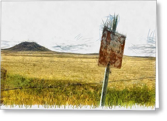 Mt Dora - Sketch Greeting Card by Nicholas Evans