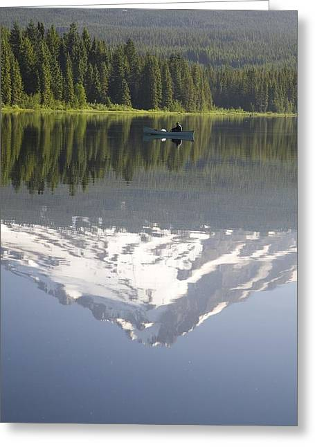 Mt. Hood Reflecting In Trillium Lake Mt Greeting Card by Craig Tuttle