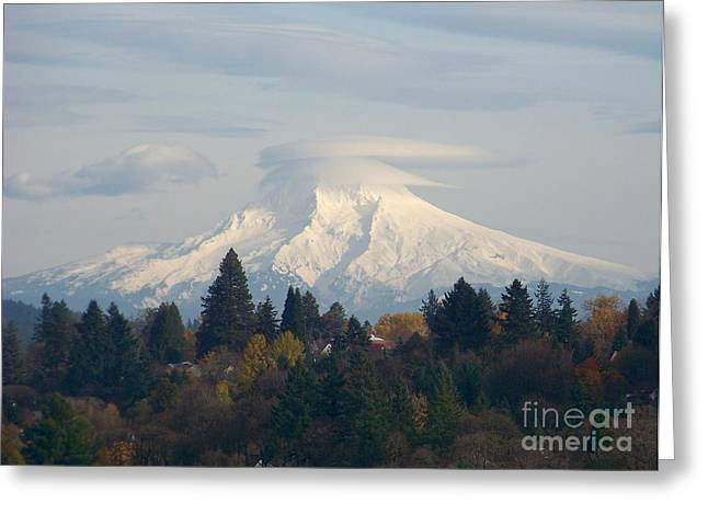 Mt Hood Snowcapped Greeting Card