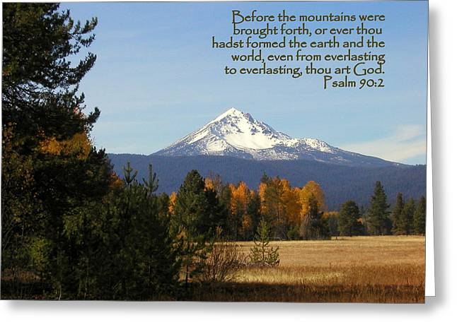 Mt Mclaughlin Psalm 90 Greeting Card by Cindy Wright