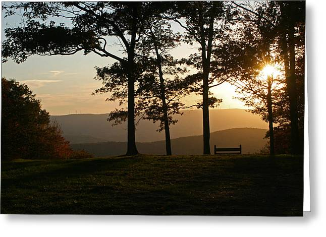 Mt Pisqah Sunset 2 Greeting Card