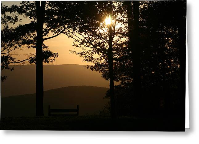 Mt Pisqah Sunset Greeting Card