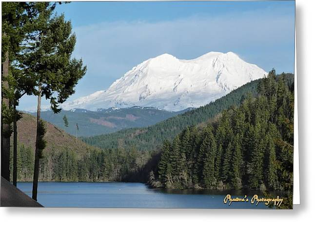 Mt. Rainier From Mineral Lake Greeting Card by Sadie Reneau