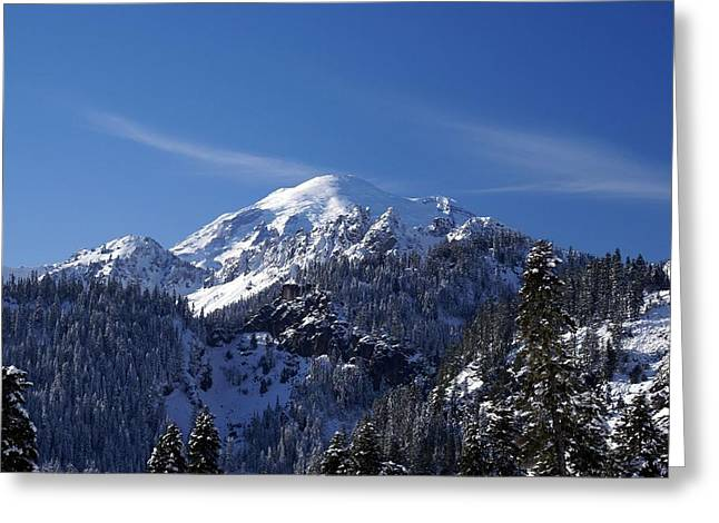 Mt. Rainier In Contrast Greeting Card