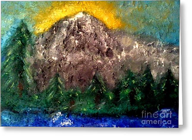 Mt. Rainier Greeting Card by J Von Ryan