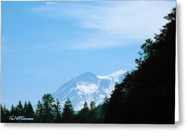 Greeting Card featuring the photograph Mt Rainier Peeking by Sadie Reneau