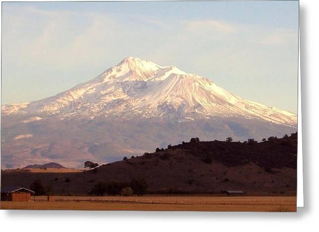 Mt. Shasta Greeting Card by Deborah Weber