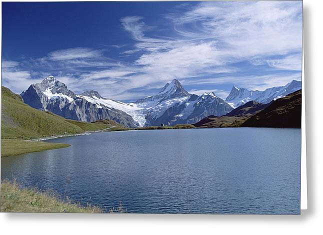 Mt Wetterhorn And Mt Schreckhorn, Alps Greeting Card by Konrad Wothe
