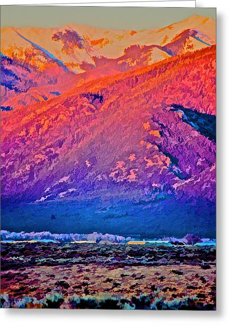 Mt Wheeler At Sunset Greeting Card