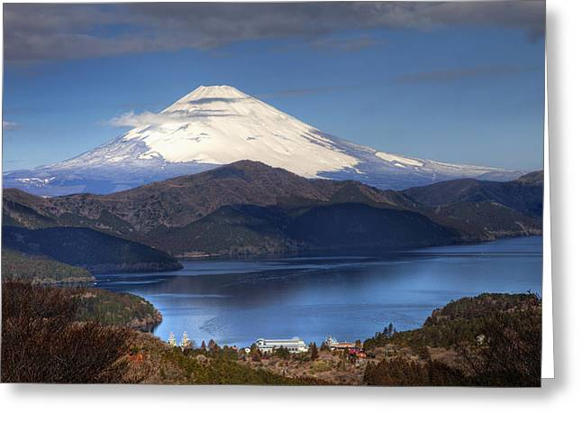 Mt.fuji And Lake Ashinoko-ii Greeting Card