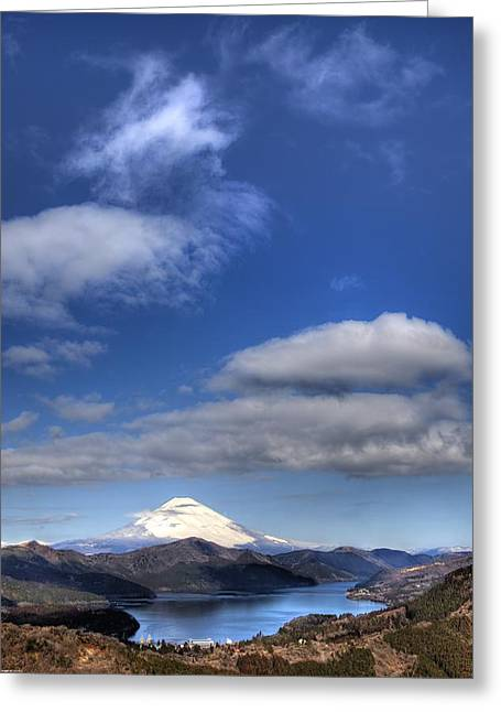 Mt.fuji And Lake Ashinoko Greeting Card