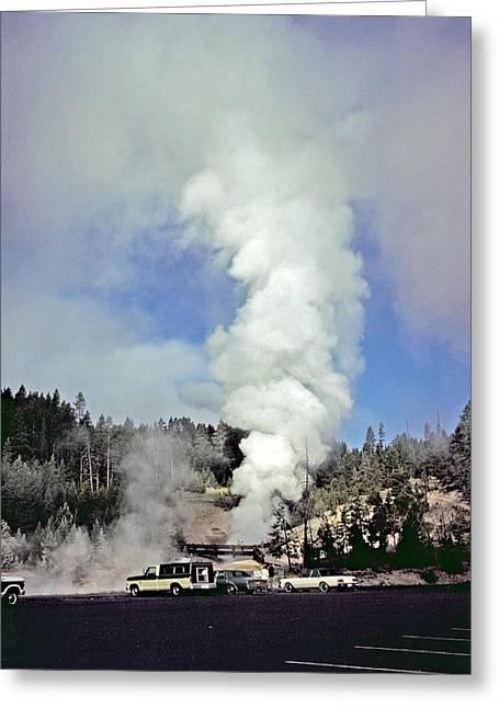 Mud Volcano Greeting Card by Rod Jones