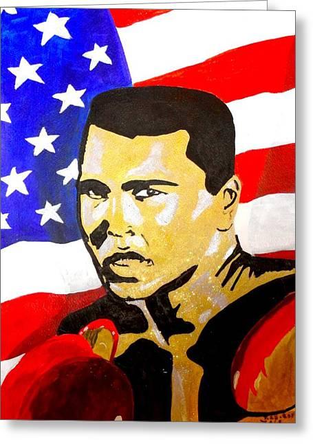 Muhammad Ali Greeting Card by Estelle BRETON-MAYA
