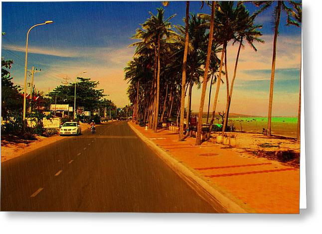 Greeting Card featuring the photograph Muine Road by Arik S Mintorogo