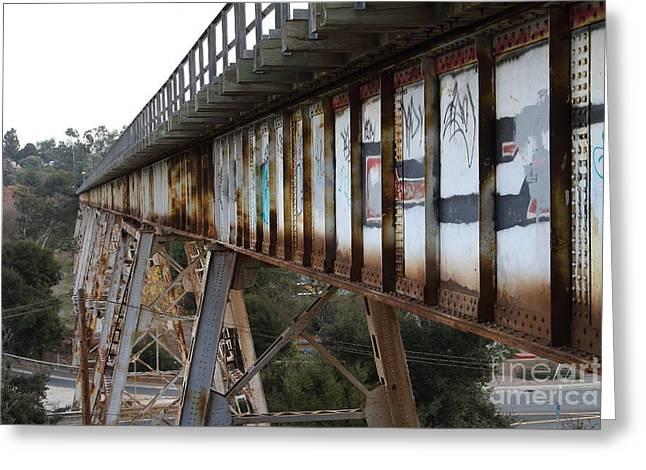 Muir Railroad Trestle In Martinez California . 7d10237 Greeting Card by Wingsdomain Art and Photography