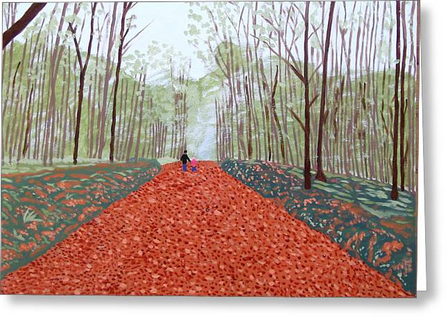 Mullaghmeen Forest In Autumn Time Greeting Card by Eamon Reilly