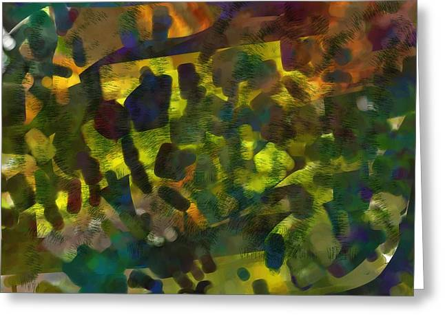 Multi-colored Abstract Greeting Card by Christine Crawford