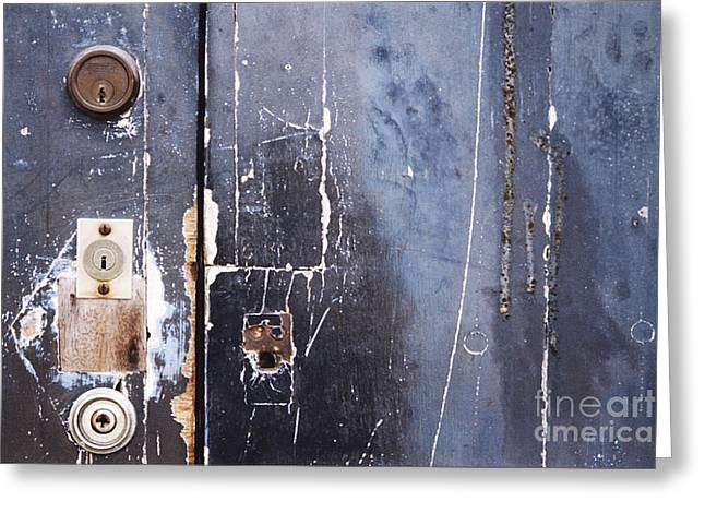 Greeting Card featuring the photograph Multiple Locks by Agnieszka Kubica