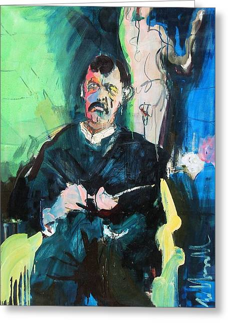 Munch Greeting Card by Les Leffingwell