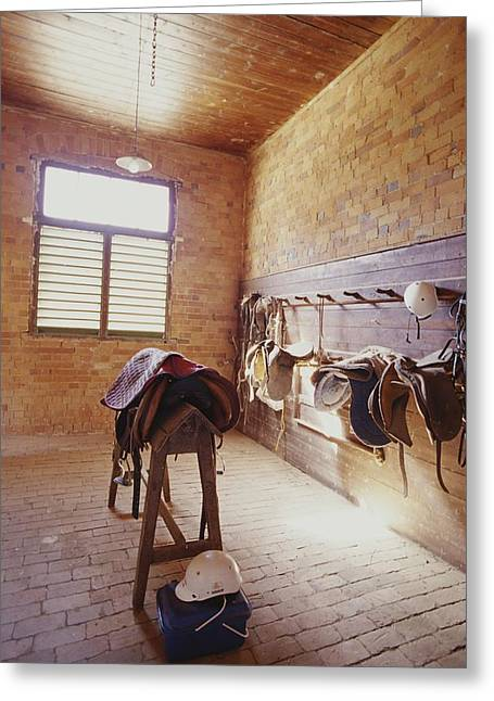 Mundiwa Station Tack Room Greeting Card by Jason Edwards