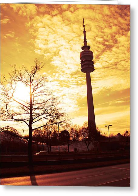 Munich Television Tower Greeting Card