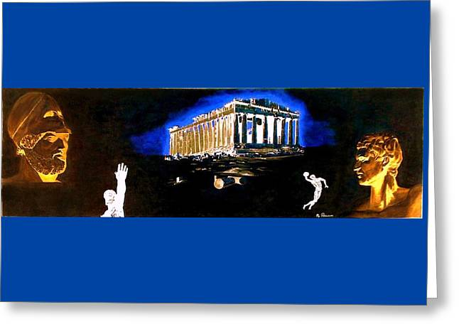 Mural - Night Greeting Card