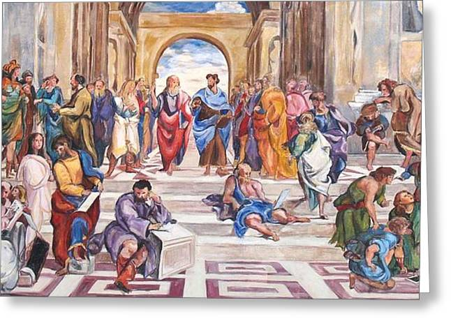 Mural After Raphael Greeting Card by Becky Kim