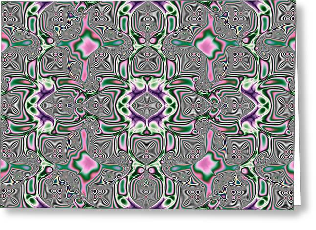 Murano Stain Glass Abstract  Greeting Card