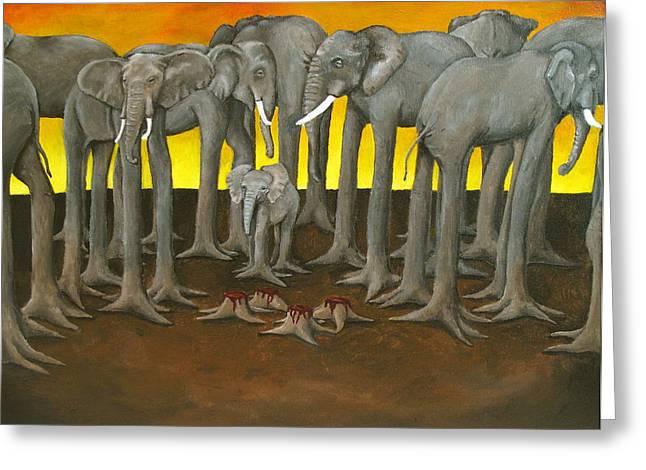 Murder The Wise Oh Ganesha Greeting Card by David  Nixon