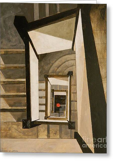 Museum Stairs Greeting Card by Micheal Jones