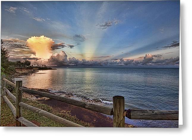 Mushroom Cloud Greeting Card by Douglas Barnard