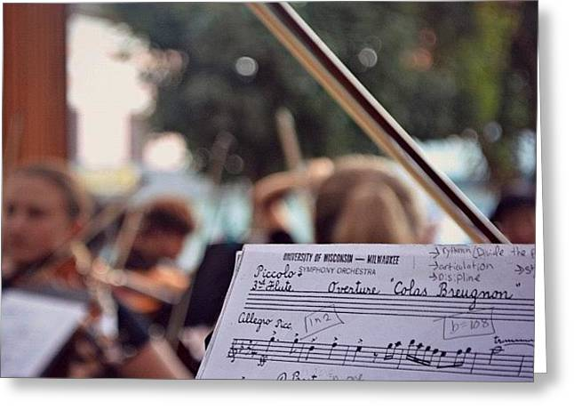#music #bow #musicians #instruments Greeting Card