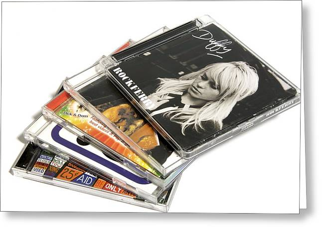 Music Cd Cases Greeting Card