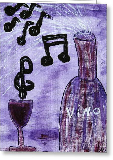 Music In My Glass Greeting Card