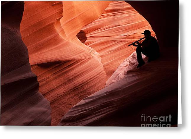Music In The Canyon Greeting Card by Bob and Nancy Kendrick