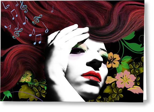 Music Muse Greeting Card by Diana Shively
